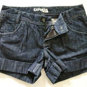 Express Dark Denim Sz 8 Shorts